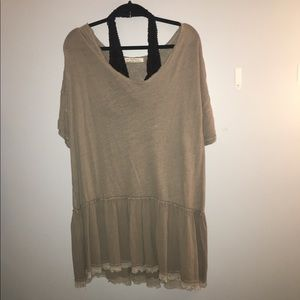Free People green tunic top & dress new with tags